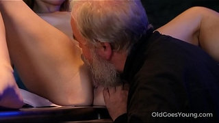 Old-Goes-Young---Experienced-man-pleases-a-hot-smoking-barman