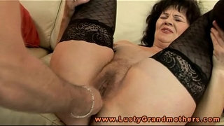 Mature-granny-in-stockings-toy-pleased
