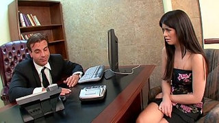Lucky-mature-boss-gets-to-drill-his-perfect-brunette-secretary-Ashlyn-Rae's-wet-young-pussy