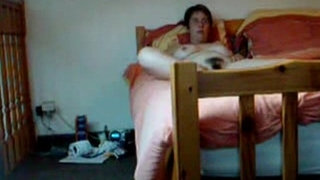 Hidden-cam-catches-my-hairy-mom-fingering-on-bed