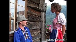 Curly-German-whore-has-all-holes-fucked