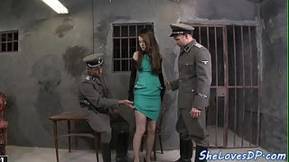 Double-penetrated-petite-gets-drilled-hard