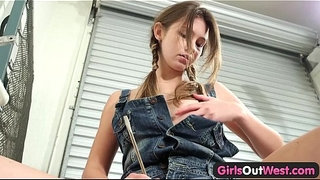 Girls-Out-West---Australian-cutie-toying-her-pussy-and-clitoris