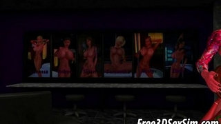 Two-sexy-3D-cartoon-babes-getting-fucked-hard