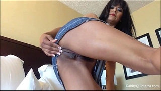 Mexican-MILF-Gabby-Jean-Skirt-Solo