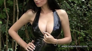 Lilly-Roma---Black-Latex-Halterneck-Catsuit
