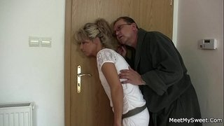 His-old-mom-and-dad-tricks-her-into-family-threesome