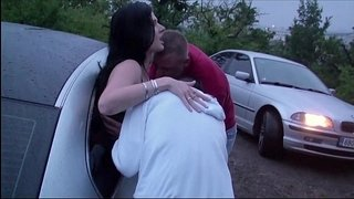 Extreme-PUBLIC-dogging-foursome-with-a-pregnant-girl
