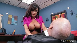 Big-tit-MILF-Lisa-Ann-Is-slammed-by-hard-cock-on-her-boss's-desk
