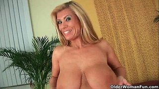 Gilf-with-big-boobs-strips-off-and-gets-fucked