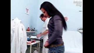 Hairy-pussy-teen-Katie-gyno-speculum-examination-at-gyno