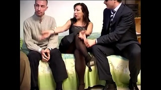 Gang-Bang-of-the-Italian-mother-who-gets-her-ass-screwed-by-her-stepson