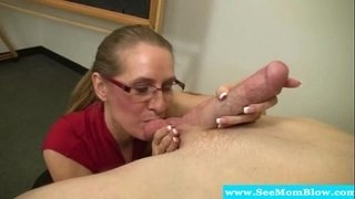 Mature-teacher-sucking-on-students-cock