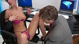 Blonde-whore-wears-glasses-and-fucked