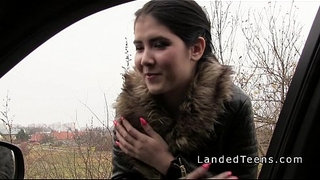 Czech-stranded-teen-sucks-strangers-dick-in-his-car