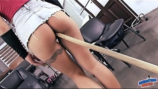 Incredibly-Hot-Ass-Maid-Inserts-Broom-Stick-in-Pussy!