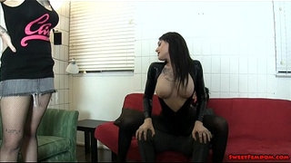 Goth-chick-and-hot-friend-BALLBUSTING-FACE-SITTING-LESBIANS