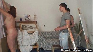 Granny-pleases-two-young-painters