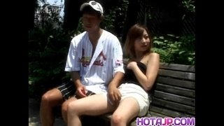 Sayaka-Hagiwara-has-snatch-touched-outdoor-and-fucked-in-house