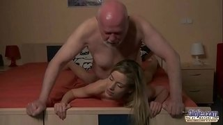 Young-Secretary-evaluation-old-man-boss-fucks-beautiful-horny-young-girl