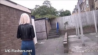 Blonde-milf-Atlantas-public-flashing-and-outdoor-exhibitionism-of-daring-voyeur
